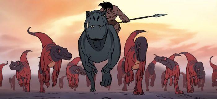 primal-caveman-trex-raptors-700x319